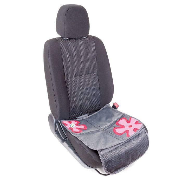 """Защитная накидка """"Смешарики"""", под детское кресло, на сиденье, цвет серый/красный, SM/COV-010 GY/RD"""