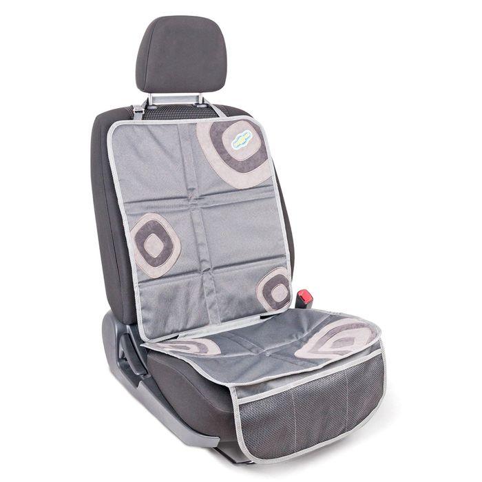 """Защитная накидка """"Смешарики"""", под детское кресло, на спинку и сиденье,цвет серый, SM/COV-020 GY/GY"""