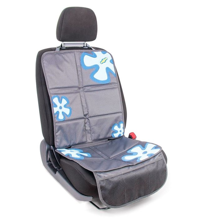 """Защитная накидка """"Смешарики"""", под детское кресло, на спинку и сиденье,цвет серый/синий, SM/COV-020 GY/BL"""