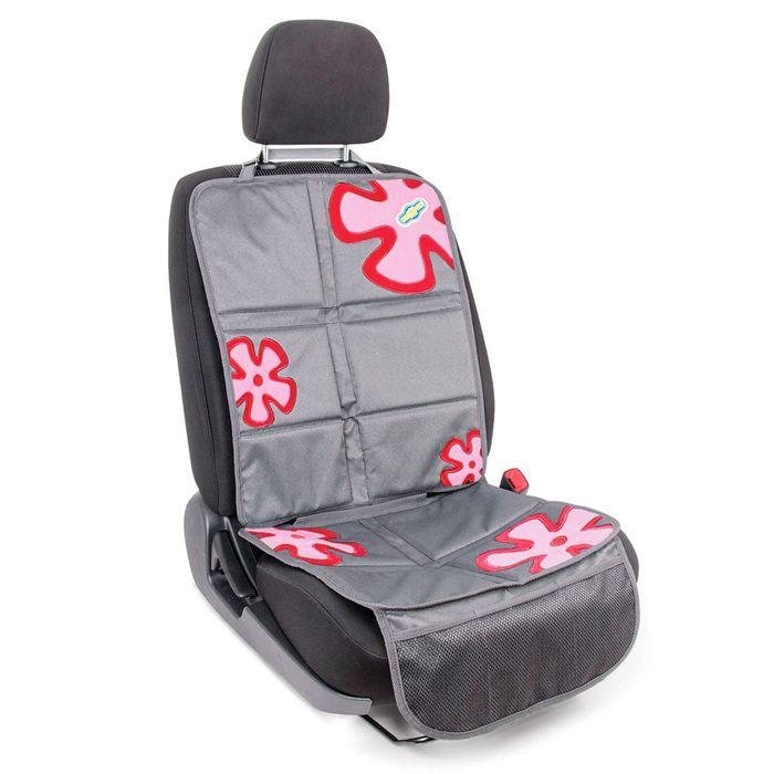 """Защитная накидка """"Смешарики"""", под детское кресло, на спинку и сиденье,цвет серый/красный, SM/COV-020 GY/RD"""