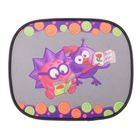 """Шторка - экран на боковое окно """"Смешарики"""" SM/WIN-012 Ezhik, 44х36см, цвет фиолетовый, 2 шт"""