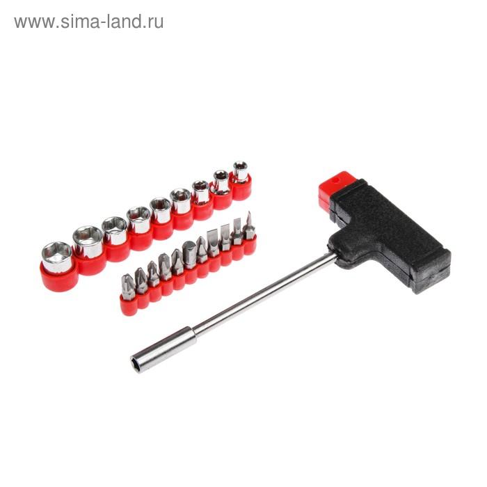 Насадки и сменные головки с держателем Top Tools, набор 21шт.
