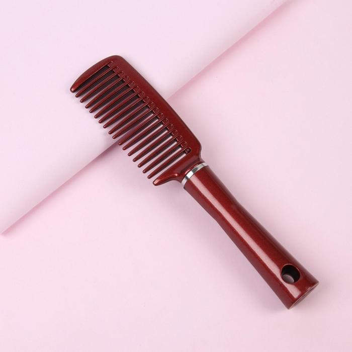 Расчёска с ручкой, цвет бордовый