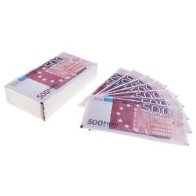 """Салфетки """"Пачка денег 500 евро"""" 30 листов"""