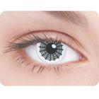Карнавальные контактные линзы Adria Crazy - Паутина, в наборе 1шт