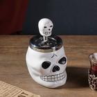 """Smokeless ashtray """"the Skull"""" mix, 13х16 cm"""