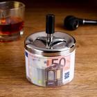 """Ashtray smokeless """"50 Euro"""", 9x12 cm"""