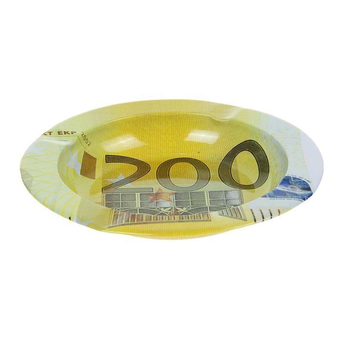 пепельница круглая Валюта. 200 евро 2*13см металл