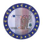 Пепельница круглая Валюта. 500 евро 2*13см металл