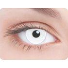 Карнавальные контактные линзы Adria Crazy - Белая радужка, в наборе 1шт