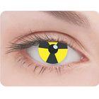 Карнавальные контактные линзы Adria Crazy - Знак радиации, в наборе 1шт