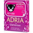 Цветные контактные линзы Adria Glamorous - Black, 0.00/8,6, в наборе 2шт