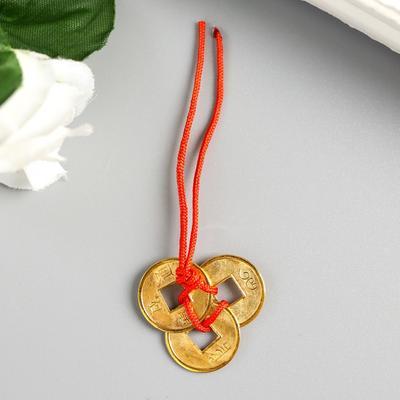 Китайские монеты фэн-шуй под золото