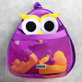 """Сетка для хранения игрушек в ванной """"Сова"""", цвет фиолетовый"""