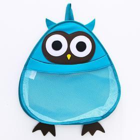 """Сетка для хранения игрушек в ванной """"Сова"""", цвет голубой"""