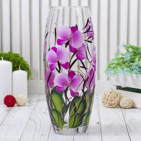 "Ваза ""Орхидея"" прозрачная d-7,5х10х26"