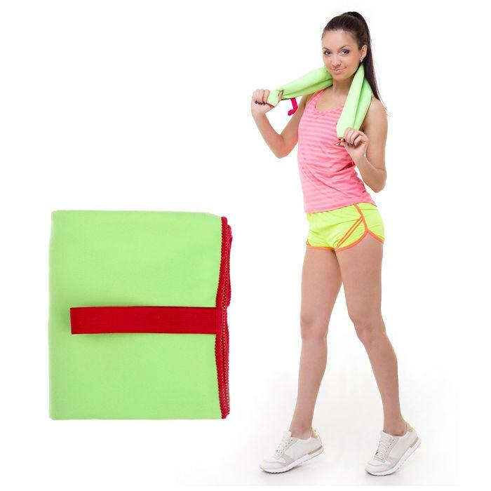 Спортивное полотенце ONLITOP, размер 40х55 см, салатовый, 200 г/м2