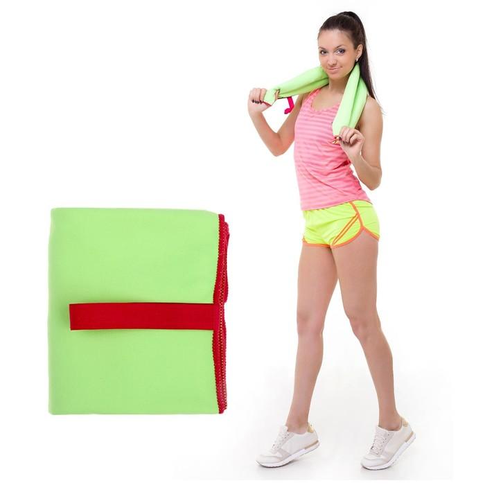 УЦЕНКА Спортивное полотенце ONLITOP, размер 80х130 см, салатовый, 200 г/м2