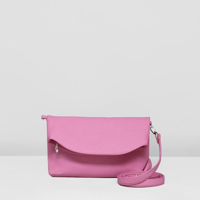 Сумка женская, отдел на молнии, цвет розовый
