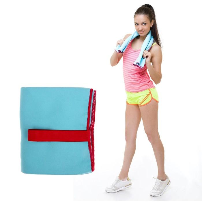 УЦЕНКА Спортивное полотенце ONLITOP, размер 80х130 см, голубой, 200 г/м2