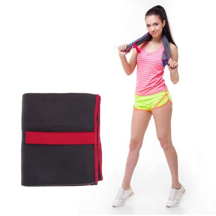 Спортивное полотенце ONLITOP, размер 70х90 см, серый, 200 г/м2