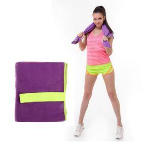 Спортивное полотенце ONLITOP, размер 40х55 см, фиолетовый, 200 г/м2