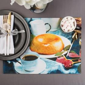 "Салфетка на стол ""Чаепитие"" 30х40 см, текстиль"
