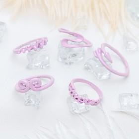Кольцо на фалангу 'Ассорти', форма МИКС, цвет розовый, размер 13,14,15 МИКС Ош