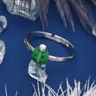 зелёный в серебре