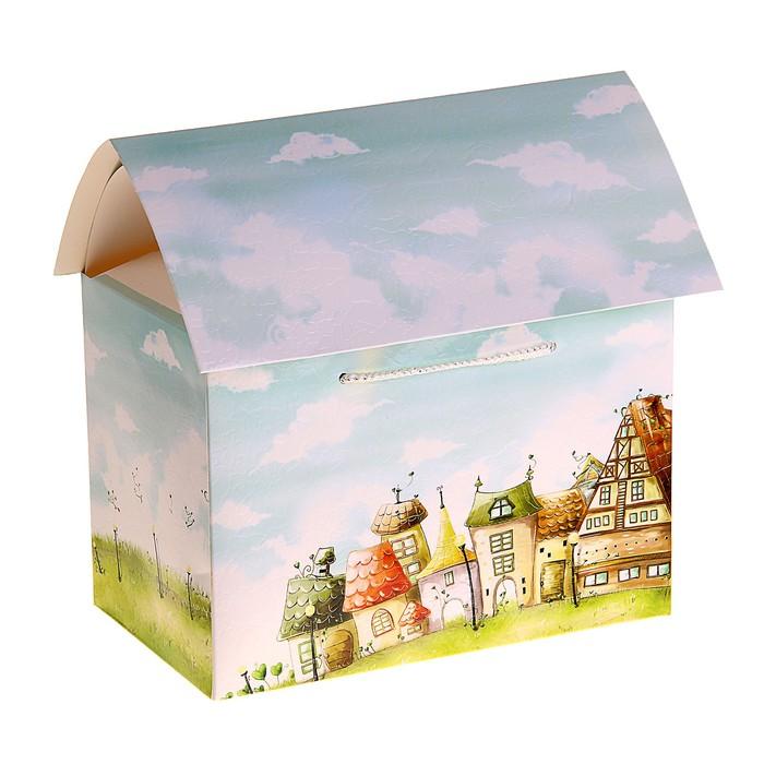 """Коробка сборная """"Сказочный домик"""""""