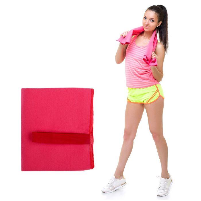 Спортивное полотенце ONLITOP, размер 80*130 см (вид 2), розовый, 200 г/м2