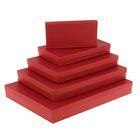 "Набор коробок 5в1 ""Крафт красный"", 40 х 30 х 5 - 20 х 10 х 3 см"