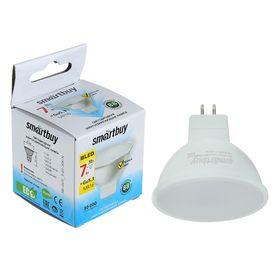 Лампа cветодиодная Smartbuy, GU5.3, 7 Вт, 3000 К, теплый белый