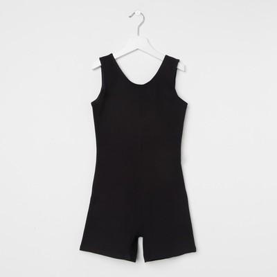 Комбинезон гимнастический детский, рост 164 см, цвет чёрный ГК 1.03