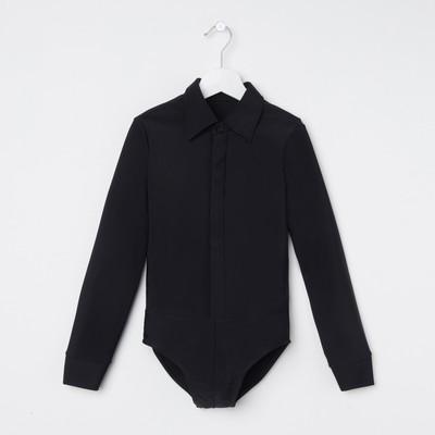 Рубашка-боди для мальчика, рост 134 см, цвет чёрный Р 1.02