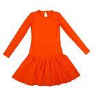 Платье спортивное для девочки, рост 134, цвет оранжевый Р 2.4