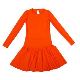 Платье спортивное для девочки, рост 146, цвет оранжевый Р 2.4