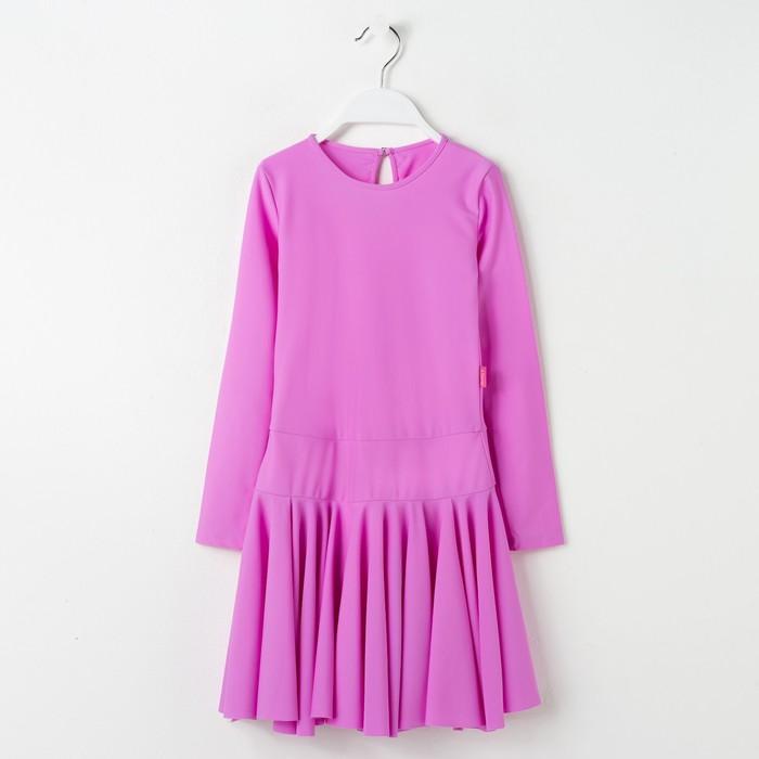 Платье спортивное для девочки, рост 158, цвет сиреневый Р 2.4