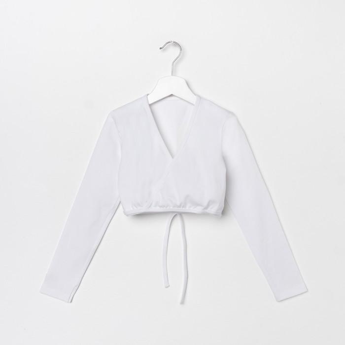 Топ для девочки, рост 110 см, цвет белый Т 9.03