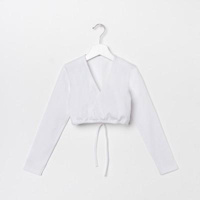 Топ для девочки, рост 134 см, цвет белый Т 9.03