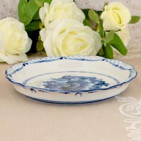 "Plate ""the Idyll"", Gzhel, porcelain, 2s"