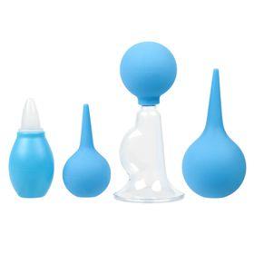 Подарочный набор для ухода за младенцем, 4 предмета: аспиратор, спринцовка, 2 шт., молокоотсос ручной Ош