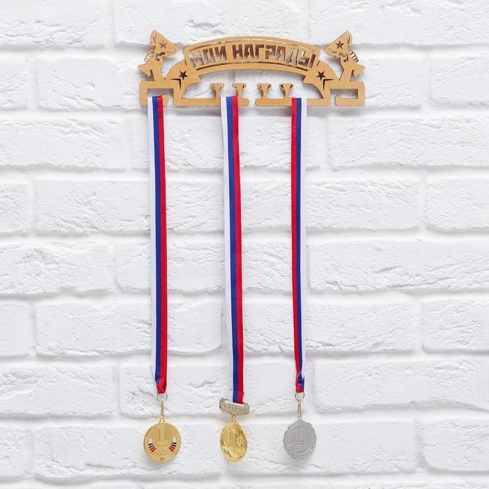 Медальница «Мои награды», золотой цвет, 29 см × 9,5 см