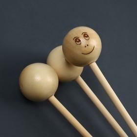 Массажёр антицеллюлитный, 3 шара, деревянный - фото 1709854