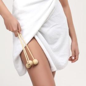 Массажёр антицеллюлитный, 3 шара, деревянный - фото 1709855