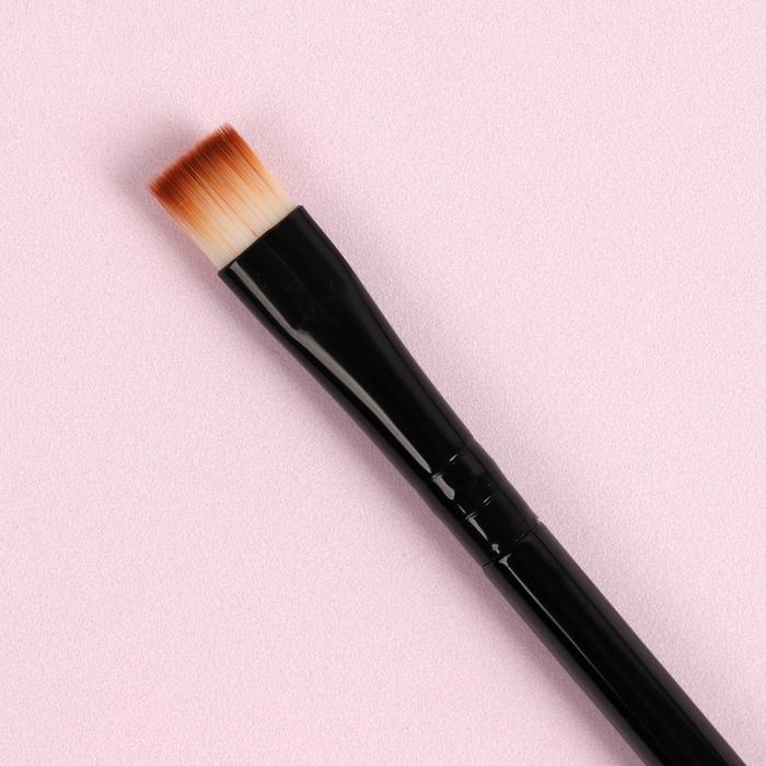 Кисть для макияжа универсальная, прямая, 13см, цвет чёрный