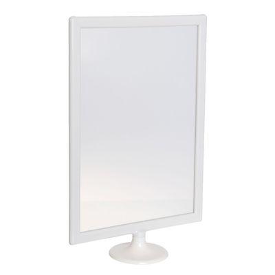 Настольная подставка под информацию 23*9*34,5, в рамке 23*31,5, цвет белый