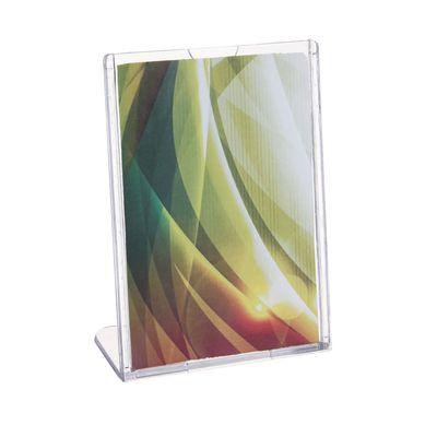 Настольная подставка под информацию 9*13, наклонная, цвет прозрачный