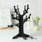 """Подставка под серьги """"Дерево"""" 16,5*16,5*24,5 см, цвет чёрный"""