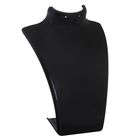 Бюст для украшений, 11,5*10*15 см, h=15 см, цвет чёрный, глянцевый